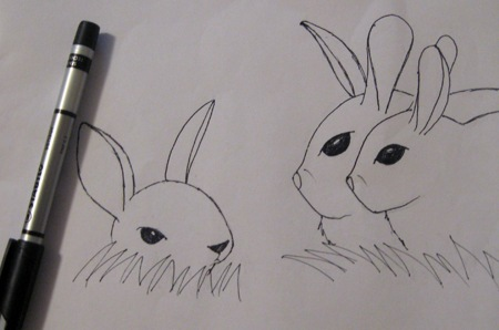 Field Bunnies Sketch