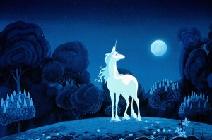 The Last Unicorn by the moon