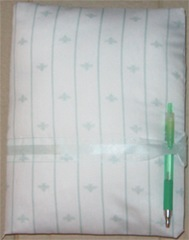 White and Green Pattern Padded Journal
